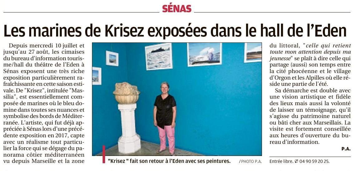 La Provence. Editions Salon et Arles. 28.07.19. Page 6